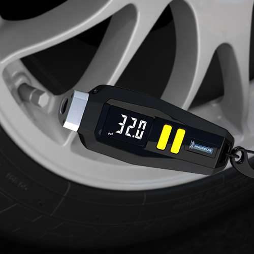 Michelin Tyre Pressure Gauge with Keyring